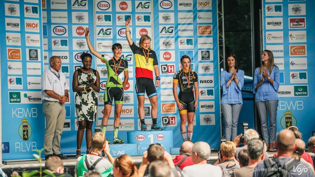 Podium op het Belgisch Kampioenschap
